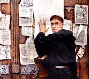 Resultado de imagen para lutero clava en la catedral